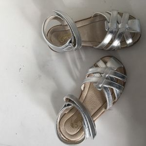 See Kai run girls silver sandals size 12 new